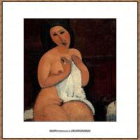 阿梅代奥莫迪利亚尼Amedeo Modigliani意大利著名画家绘画作品集油画作品高清图片Bath nud