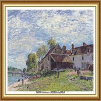 阿尔弗莱德西斯莱Alfred Sisley法国印象派画家世界著名画家风景油画高清图片 (6)