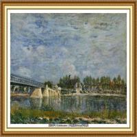 阿尔弗莱德西斯莱Alfred Sisley法国印象派画家世界著名画家风景油画高清图片 (24)