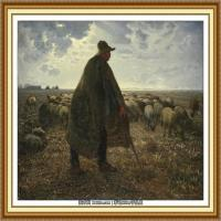 19世纪法国巴比松派画家让弗朗索瓦米勒Jean Francois Millet绘画作品集现实主义画家米勒 (49)