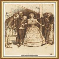 十九世纪英国画家约翰埃弗里特米莱斯John Everett Millais拉斐尔前派画家素描速写 (10)