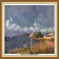 阿尔弗莱德西斯莱Alfred Sisley法国印象派画家世界著名画家风景油画高清图片 (31)