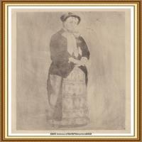 19世纪著名美国印象派女画家玛丽卡萨特Mary Cassatt绘画作品集油画作品高清图片 (65)