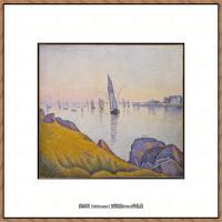 保罗西涅克Paul Signac法国新印象派点彩派大师西涅克绘画作品集Evening Calm, Concarneau,