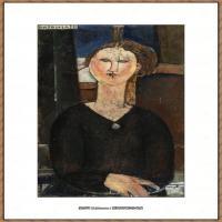 阿梅代奥莫迪利亚尼Amedeo Modigliani意大利著名画家绘画作品集油画作品高清图片Antonia
