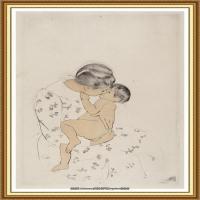 19世纪著名美国印象派女画家玛丽卡萨特Mary Cassatt绘画作品集油画作品高清图片 (57)