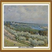 阿尔弗莱德西斯莱Alfred Sisley法国印象派画家世界著名画家风景油画高清图片 (1)
