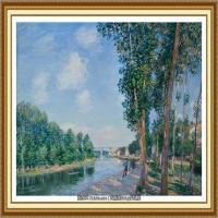 阿尔弗莱德西斯莱Alfred Sisley法国印象派画家世界著名画家风景油画高清图片 (17)