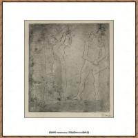 西班牙画家巴勃罗毕加索Pablo Picasso现代派素描毕加索手稿高清图片毕加索素描作品 (29)