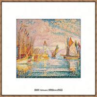 保罗西涅克Paul Signac法国新印象派点彩派大师西涅克绘画作品集Lighthouse at Groix (Fren