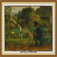 19世纪法国巴比松派画家让弗朗索瓦米勒Jean Francois Millet绘画作品集现实主义画家米勒 (13)