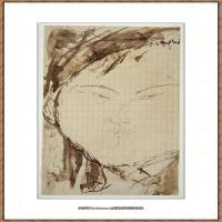 阿梅代奥莫迪利亚尼Amedeo Modigliani意大利著名画家绘画作品集手稿素描作品高清图片Portrait of