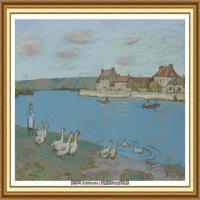 阿尔弗莱德西斯莱Alfred Sisley法国印象派画家世界著名画家风景油画高清图片 (5)