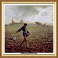 19世纪法国巴比松派画家让弗朗索瓦米勒Jean Francois Millet绘画作品集现实主义画家米勒 (28)