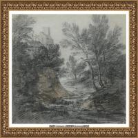英国画家托马斯庚斯博罗Thomas Gainsborough肖像画风景画素描速写作品高清图片 (14)