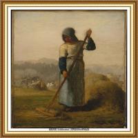 19世纪法国巴比松派画家让弗朗索瓦米勒Jean Francois Millet绘画作品集现实主义画家米勒 (48)