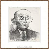 西班牙画家巴勃罗毕加索Pablo Picasso现代派素描毕加索手稿高清图片毕加索素描作品 (108)
