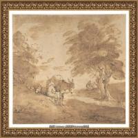 英国画家托马斯庚斯博罗Thomas Gainsborough肖像画风景画素描速写作品高清图片 (4)