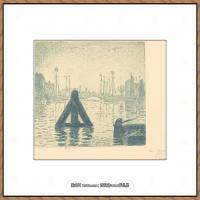 保罗西涅克Paul Signac法国新印象派点彩派大师西涅克绘画作品集 Harbor in Holland  Flush