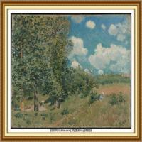 阿尔弗莱德西斯莱Alfred Sisley法国印象派画家世界著名画家风景油画高清图片 (2)