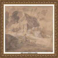 英国画家托马斯庚斯博罗Thomas Gainsborough肖像画风景画素描速写作品高清图片 (19)