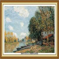 阿尔弗莱德西斯莱Alfred Sisley法国印象派画家世界著名画家风景油画高清图片 (19)