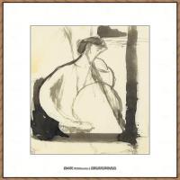 阿梅代奥莫迪利亚尼Amedeo Modigliani意大利著名画家绘画作品集手稿素描作品高清图片LE JOUEUR DE