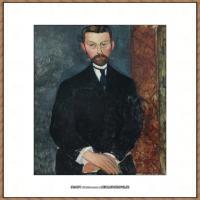 阿梅代奥莫迪利亚尼Amedeo Modigliani意大利著名画家绘画作品集油画作品高清图片PORTRAIT DE PA