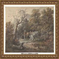 英国画家托马斯庚斯博罗Thomas Gainsborough肖像画风景画素描速写作品高清图片 (7)