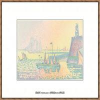 保罗西涅克Paul Signac法国新印象派点彩派大师西涅克绘画作品集 Evening (Le soir) 1898
