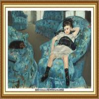 19世纪著名美国印象派女画家玛丽卡萨特Mary Cassatt绘画作品集油画作品高清图片 (59)