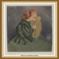 19世纪著名美国印象派女画家玛丽卡萨特Mary Cassatt绘画作品集油画作品高清图片 (91)