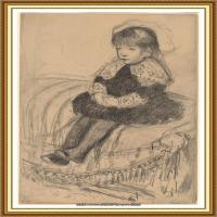19世纪著名美国印象派女画家玛丽卡萨特Mary Cassatt绘画作品集油画作品高清图片 (56)
