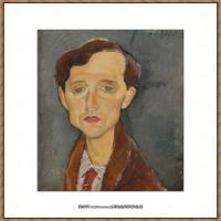 阿梅代奥莫迪利亚尼Amedeo Modigliani意大利著名画家绘画作品集油画作品高清图片FRANS HELLEN