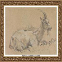 英国画家托马斯庚斯博罗Thomas Gainsborough肖像画风景画素描速写作品高清图片 (34)