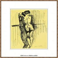 西班牙画家巴勃罗毕加索Pablo Picasso现代派素描毕加索手稿高清图片毕加索素描作品 (177)
