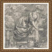 英国画家托马斯庚斯博罗Thomas Gainsborough肖像画风景画素描速写作品高清图片 (10)