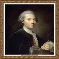 法国洛可可风格画家让巴蒂斯特格勒兹Jean Baptiste Greuze古典人物油画作品图片-The architec