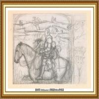 十九世纪英国画家约翰埃弗里特米莱斯John Everett Millais拉斐尔前派画家素描速写 (5)