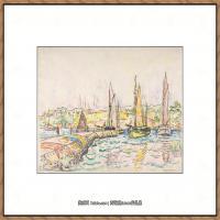 保罗西涅克Paul Signac法国新印象派点彩派大师西涅克绘画作品集Concarneau (French, Paris