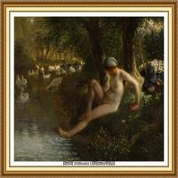 19世纪法国巴比松派画家让弗朗索瓦米勒Jean Francois Millet绘画作品集现实主义画家米勒 (31)