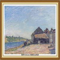 阿尔弗莱德西斯莱Alfred Sisley法国印象派画家世界著名画家风景油画高清图片 (4)