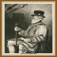 十九世纪英国画家约翰埃弗里特米莱斯John Everett Millais拉斐尔前派画家素描速写 (11)