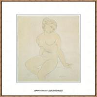 阿梅代奥莫迪利亚尼Amedeo Modigliani意大利著名画家绘画作品集手稿素描作品高清图片Seated Femal
