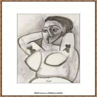 西班牙画家巴勃罗毕加索Pablo Picasso现代派素描毕加索手稿高清图片毕加索素描作品 (53)
