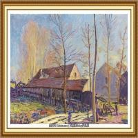 阿尔弗莱德西斯莱Alfred Sisley法国印象派画家世界著名画家风景油画高清图片 (46)