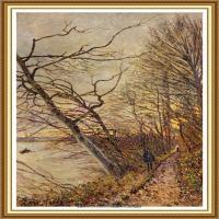 阿尔弗莱德西斯莱Alfred Sisley法国印象派画家世界著名画家风景油画高清图片 (23)