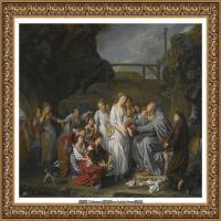 法国洛可可风格画家让巴蒂斯特格勒兹Jean Baptiste Greuze古典人物油画作品图片-THE HERMIT,