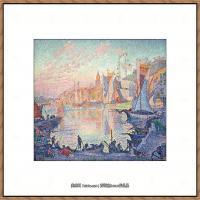保罗西涅克Paul Signac法国新印象派点彩派大师西涅克绘画作品集The_Port_of_SaintTropez