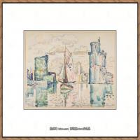 保罗西涅克Paul Signac法国新印象派点彩派大师西涅克绘画作品集Entrance to the Harbor of